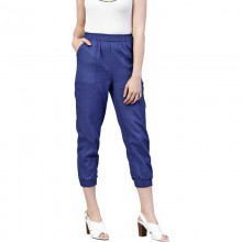 Women Cotton Blend Trousers